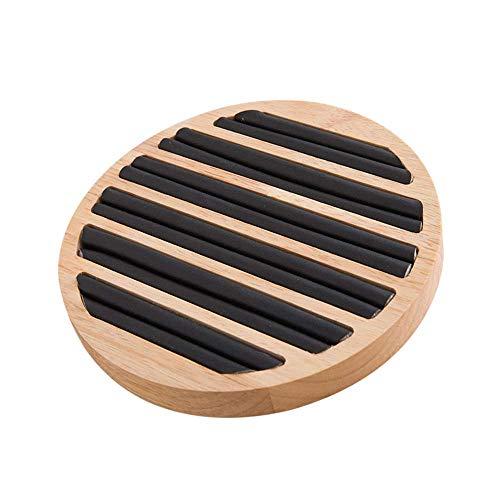 XJF 1 caja de almacenamiento redonda para joyas, anillos de madera, soporte para pendientes, bandeja organizadora