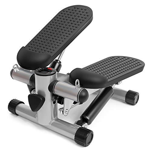 Wonder Maxiステッパー 静音ウォーキングマシン コンパクトな安全昇降台有酸素運動効果 膝への負担なし健康 家庭用室内すてっぱー 運動器具ダイエット 歩行運動踏み台昇降 男女兼用 保証付き(ブラック)