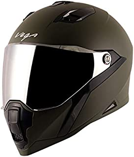 Vega Storm Dull Battle Green Helmet-L