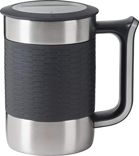 Trudeau Boardroom II - Taza (416 ml), color gris y gris