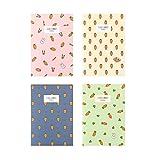 HMEI Cuaderno de zanahoria A5 B5: cuaderno de papel rayado con forro para niños, ideal para escribir...