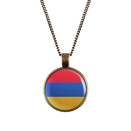 WeAreAwesome Armenien Flagge Halskette - Länderkette mit Fahne Anhänger Unisex Kette