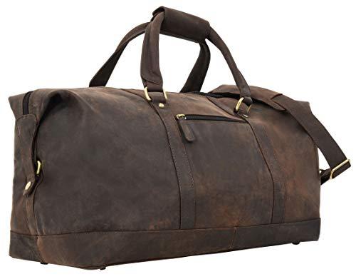 Travel Bag Leather Women Men Large - Gusti Ruben 36L Hand Luggage Weekender Light...