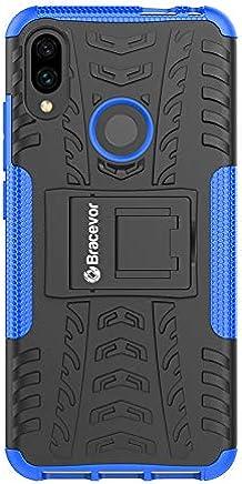 Bracevor Shockproof Hybrid Kickstand Back Case Defender Cover for Xiaomi Redmi Note 7 | Xiaomi Redmi Note 7 Pro | Redmi Note 7S - Blue