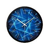 KGDC Reloj de Pared Moderno Reloj Digital Cara Moderno Reloj de Pared Mute Non-Ticking Decoración de la casa Reloj de Pared Redondo Reloj de Pared Reloj de Pared (Color : D, Size : 30CM)
