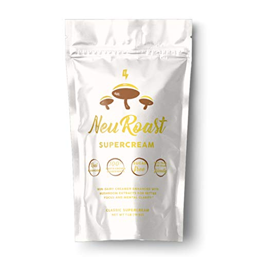 NeuRoast Mushroom Coffee Creamer | Plant-Based & Keto with Lions Mane and Chaga | Sugar-Free, Gluten-Free, GMO-Free | Paleo and Keto-Friendly
