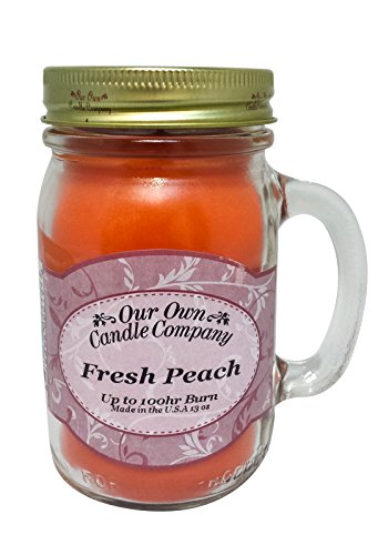 Our Own Candle Company Fresh Peach Scented 13 Ounce...