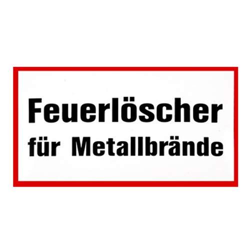 Feuerlöscher für Metallbrand - Folie 200 mm x 120 mm