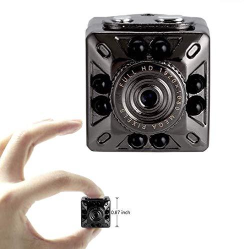 Foccoe Mini cámara Espía 1080P HD cámara de Seguridad portátil de Video y Foto con cámara de visión Nocturna/para Oficina, hogar y automóvil (admite Tarjeta Micro SD de 32 GB)