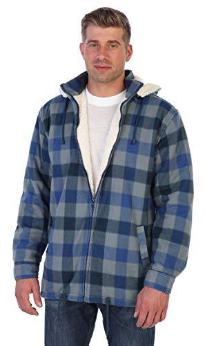 Men Sherpa Lined Flannel Jacket