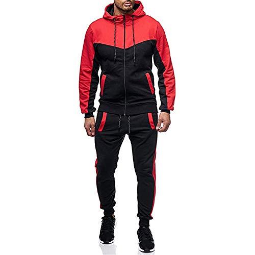 qulvyushangmaobu Herren Cargo Stil Sportanzug Jogginganzug Trainingsanzug Sporthose+Hoodie Herren Jogging Anzug Trainingsanzug Sportanzug