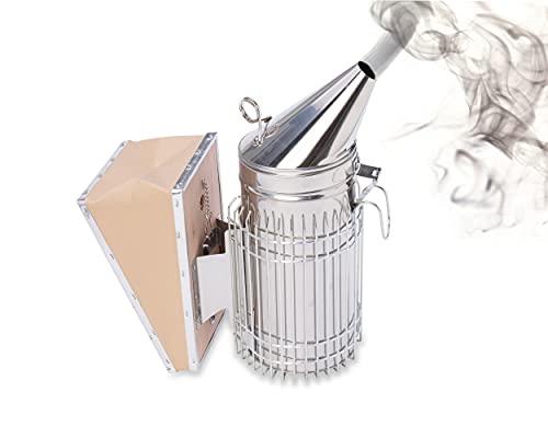 Imkado Premium Edelstahl-Smoker *Königin* - Imkereibedarf, Smoker zum Arbeiten mit Bienen