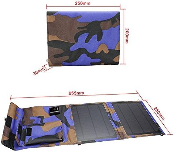 Xie (10W5V2a extérieur pliable portable chargeur solaire, énergie solaire pliable Lot chargeur de voiture