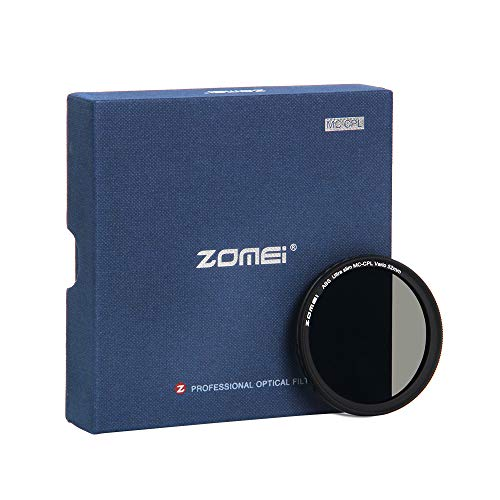 Polarisationsfilter, ZOMEi 52mm Filtro Polarizador CPL para Nikon D3000 | D3200 | D3300 | D5000 | D5200 - Canon EOS M - Panasonic Lumix DMC-G1 | G2 | G3 | G5 | G6 | G10 Pentax K01 K100D K10D
