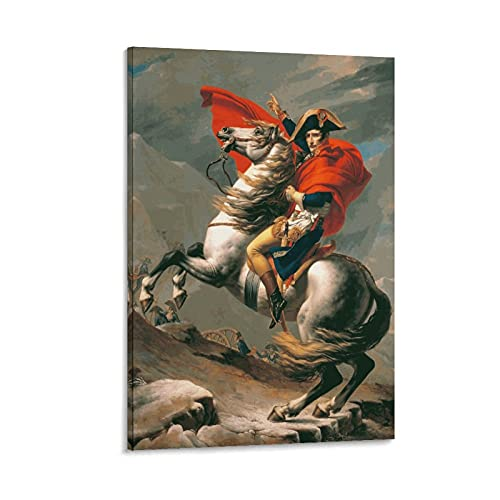 JIEDENG Jacques Louis David Napoleon - Stampa artistica su tela e stampa artistica da parete, 50 x 75 cm