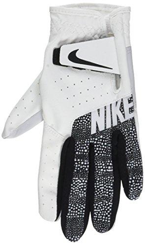 Nike Damen Sport Golfhandschuh (Links Regulär), White/Wolf Grey/Zebra Print, M