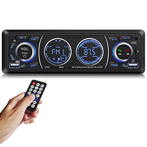 Car Stereo Car Stereo with Bluetooth Single din in Dash car Stereo car Radio car aduio stereos for car Support USB Port, SD Card AUX in with Wireless Remote Control