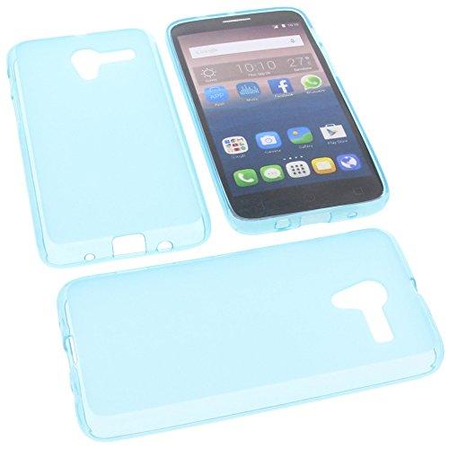 foto-kontor Tasche für Alcatel One Touch Pop 3 5.0 4G Gummi TPU Schutz Handytasche blau