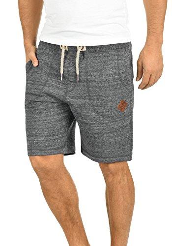 !Solid Aris Herren Sweatshorts Kurze Hose Jogginghose Mit Melierung Und Kordel Regular Fit, Größe:L, Farbe:Grey Melange (8236)