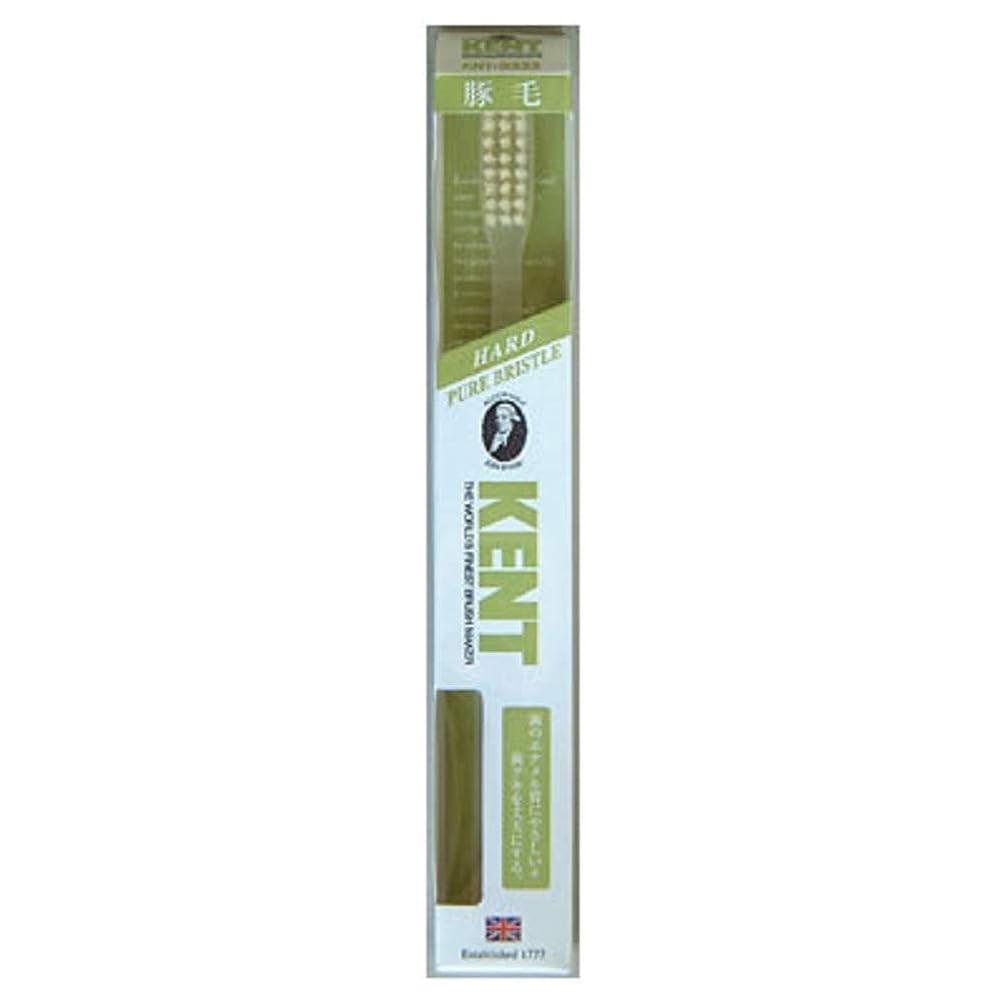 電気陽性素晴らしさKENT 豚毛歯ブラシ KNT-9333 ラージヘッド かため