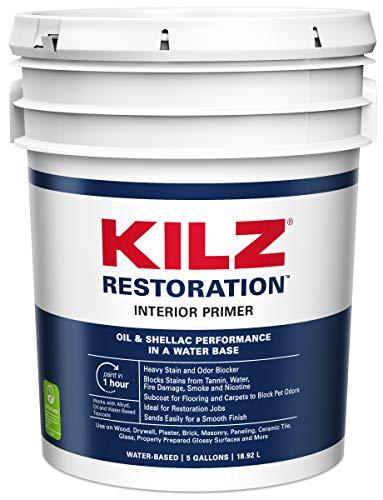 KILZ MAX Maximum Stain and Odor Blocking Interior Latex Primer/Sealer, White, 5 gallon