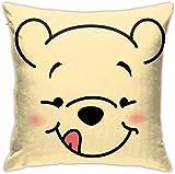 Bxad Throw Pillow Covers Winnie The Pooh Pillowcase Cushion Case for Sofa Bed Chair Home Decor.(18x18 Inch)