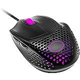 Cooler Master MM720 RGB-LED Ratón Gaming con Cable Sujeción Garra, Carcasa ligera 49 g, Sensor Óptico 16000 DPI, Conmutadores 70 Millones Clic, Pies PTFE Suave Desplazamiento, Negro Mate