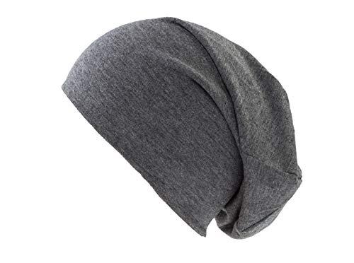 shenky Dunkelgraue Jersey Beanie Mütze für Herren und Damen