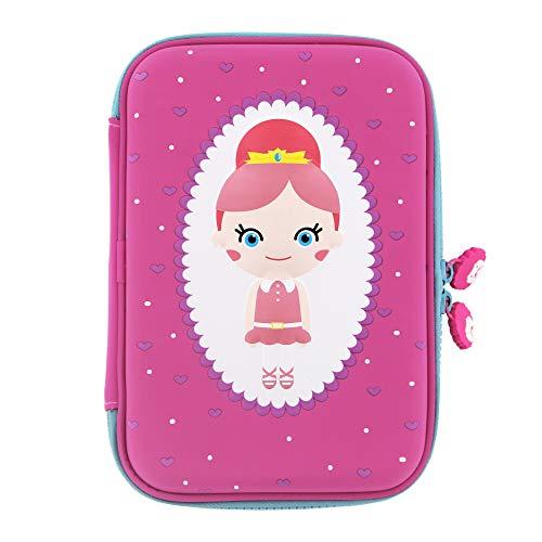 Rockpapa High-Capacity Princess Pencil Case, Pencil Box, Storage Box for School Students Girls Teens Kids Toddlers Pink