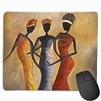 3人のおしゃれなアフリカ人女性 マウスパッド ノンスリップ 防水 高級感 習慣 パターン印刷 ゲーミング ホビー 事務 おしゃれ 学習