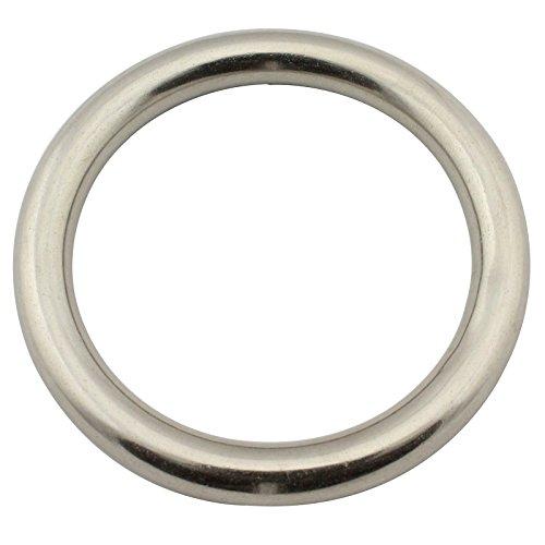 Edelstahl Ringe (geschweißt und poliert) - 4x25 mm - (Menge: 10 Stück) - rostfreier Edelstahl A4 (V4A) - SC-Normteile