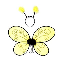 Bumble Bee Wings with Headband