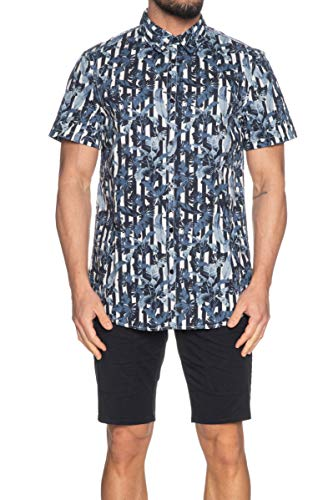 Guess Camicia Uomo Fantasia Floreale Blu