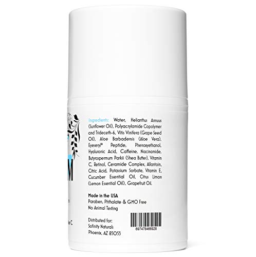 41WQGDr70uL - Eye Cream Anti Aging Bags & Dark Circle - Under Eye Cream - Dark Circles under Eye Treatment for Women / Men - Eye Cream for Dark Circles and Puffiness - With Retinol, Caffeine, Vitamin C, by Sofinity