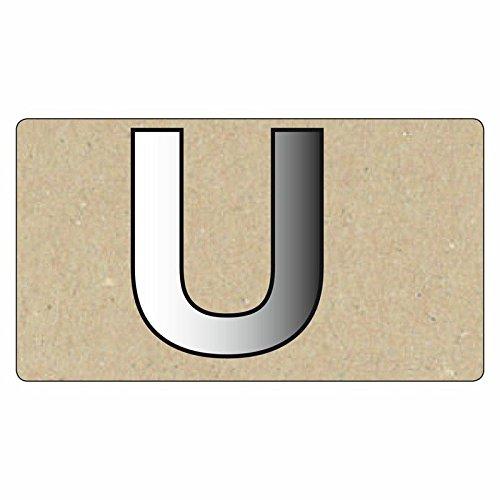 Rico - Letter Spiegels Groot - U