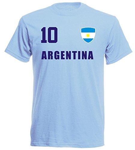 Camiseta de Argentina Mundial 2018, Sky ALL-10, S, M, L, XL, XXL