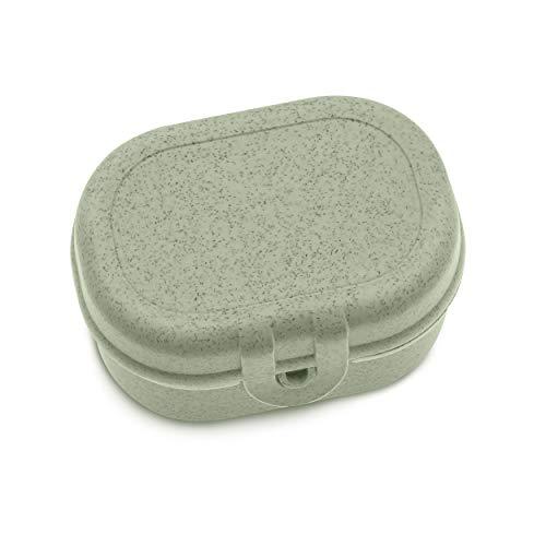 Koziol Pascal Mini, Breakfast Box, Lunch to go, Meal Prep, Organic Green, 96x70x52 mm
