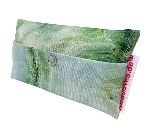 Zakdoeken tas marmer groen goed beterij geschenk cadeautje give away medewerkers adventskalender afscheid cadeau