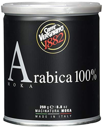 Caffè Vergnano 1882 Kaffee Dose 100% Arabica gemahlen Mokka - 250 g-Packung