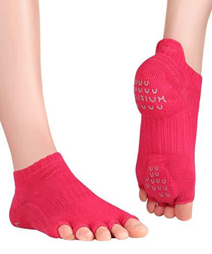 Knitido+ Tani, calcetines de dedos antideslizantes, para Yoga, Pilates y Fitness, Talla:39-42, Color:magenta (37)