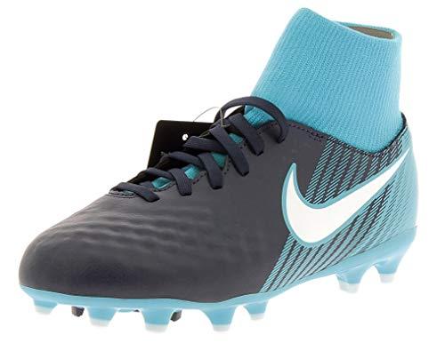 Nike Unisex JR Magista ONDA II DF FG Fußballschuhe, Blau (Obsidian Blau/Weiß-Gamma Blau-Gletscher Blau 414), 37.5 EU