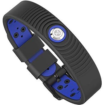 ProExl 18K Sports Magnetic Bracelet - Waterproof - Breathable Strap - Super Strength - Arthritis Relief  Black Azul