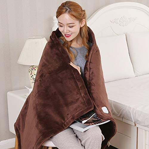 WFF Electric Blanket Fast Heating Blanket, Car Electric Warm Blanket,Multi-function Full Blanket Heating, 6-speed Temperature Adjustment For 8 Hours Automatic Shutdown It Can Be Used On A Sofa Or Bed,