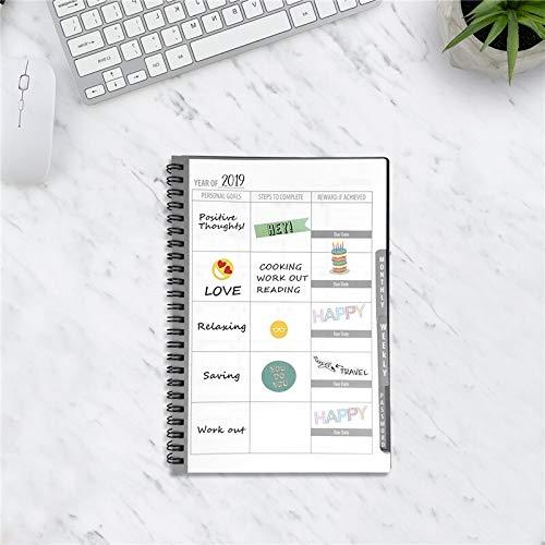 AAJTCT Uitwisbare Notebook Herbruikbare Smart Notebook Cloud Opslag Flash Opslag Herbruikbare Planner Wekelijks, Maandelijks, Jaarlijks