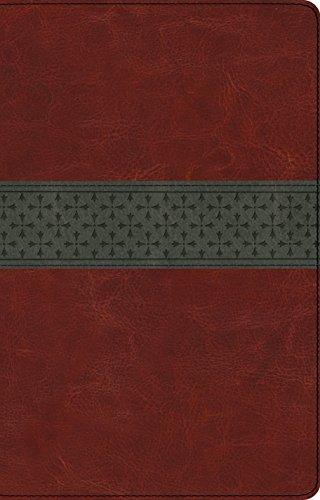 ESV Large Print Thinline Reference Bible (TruTone, Walnut/Slate, Crossband Design)