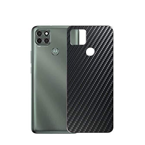 VacFun 2 Piezas Protector de pantalla Posterior, compatible con Motorola moto g9 power, Película de Trasera de Fibra de carbono negra