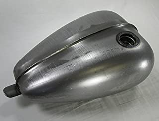 Ribbed Mustang Chopper Bobber Custom Build Gas Tank - Steel - 3.3 Gallon Capacity - Motorcycle Cafe Racer Fuel Cell Petrol