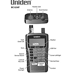 Uniden Bearcat BC125AT Handheld Scanner, 500-Alpha-Tagged Channels,...