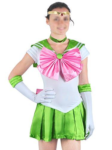 CoolChange Costume Cosplay della Serie Sailor Moon di Sailor Jupiter, Taglia: M