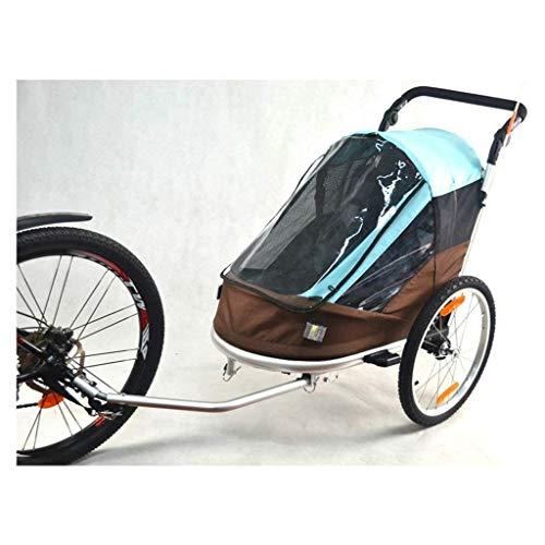Kinderfahrradanhänger, Kinderfahrradanhänger Einzel- und Doppel Passagiere Kinder faltbare Tow Behind-Fahrrad-Anhänger mit 20 Rädern und hinten Speicherabteil
